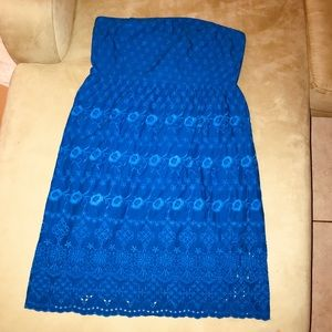2/30 Royal Blue Strapless Dress Size 12 Old Navy